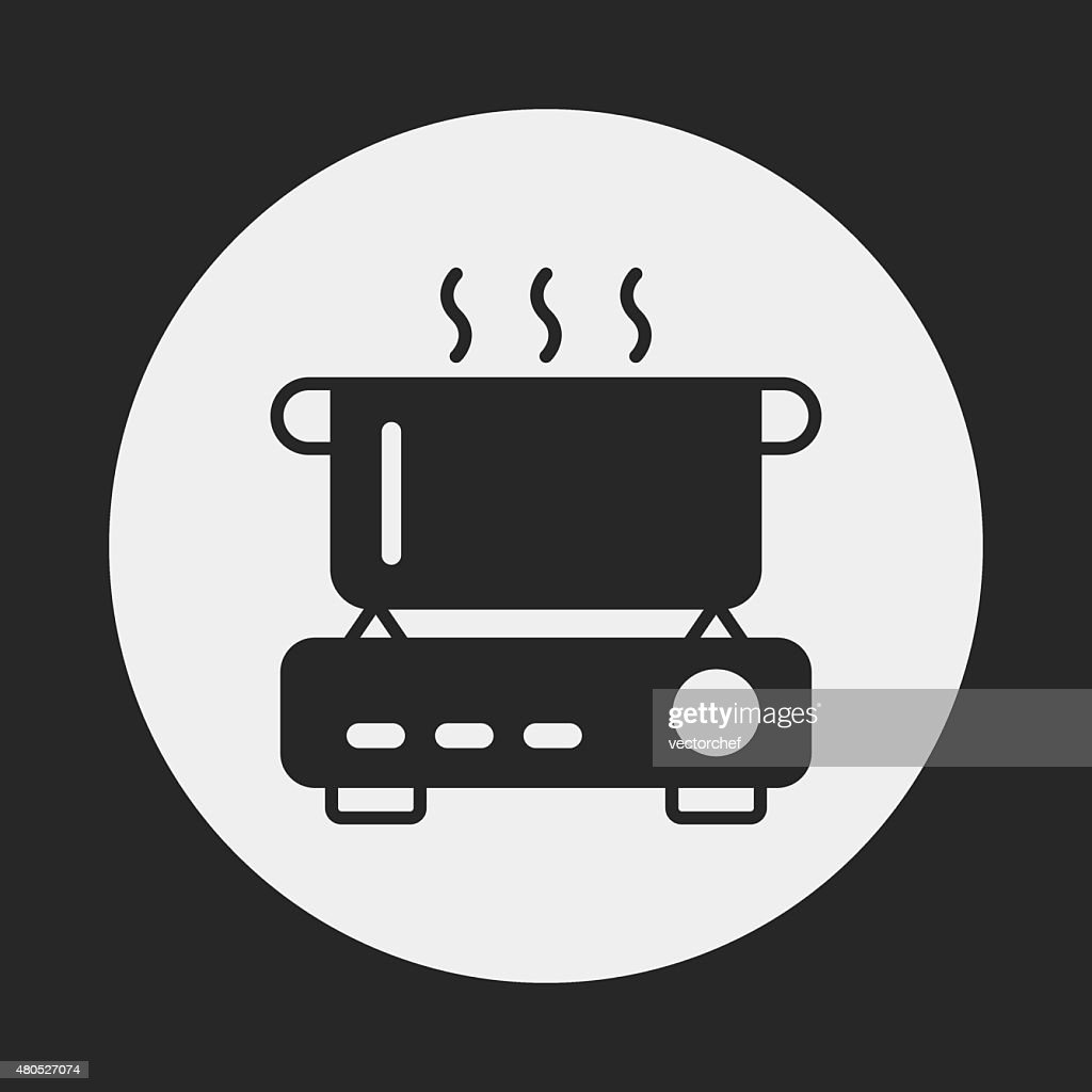 camp pot icône : Clipart vectoriel