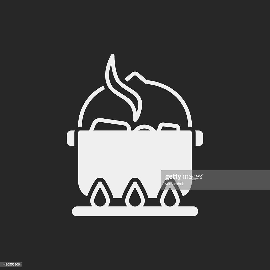 camp pot icono : Arte vectorial