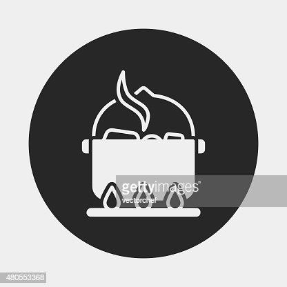 camp pot icon : Vector Art