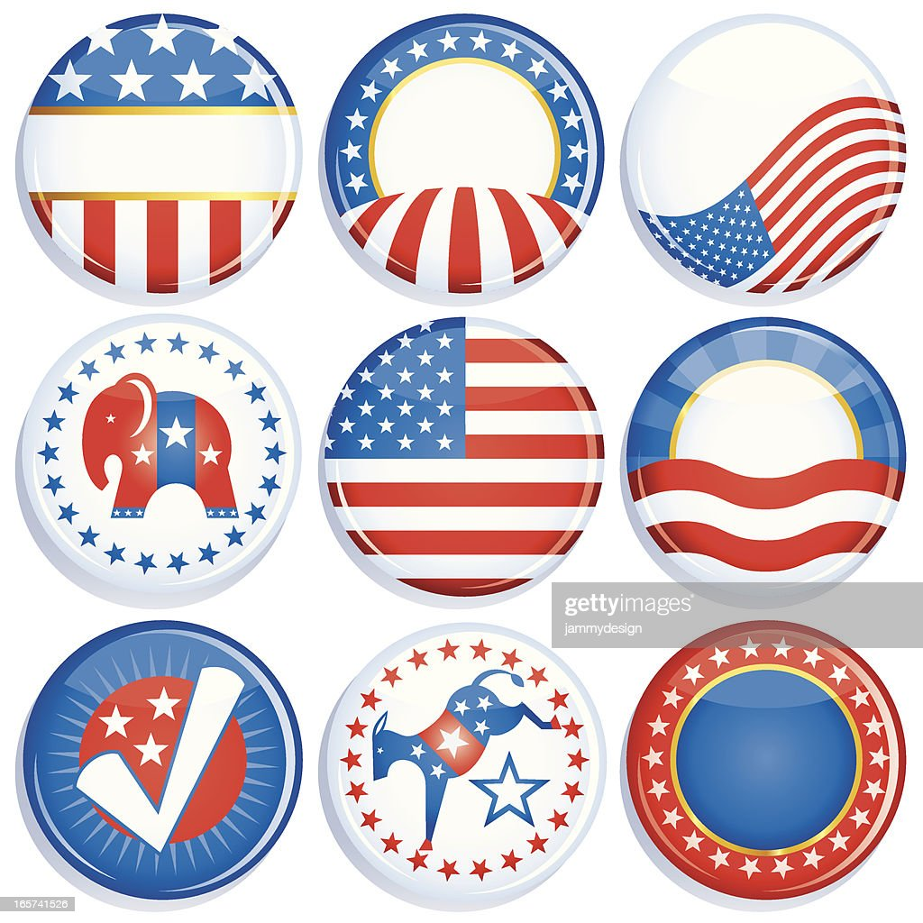 Campaign Buttons : Vector Art