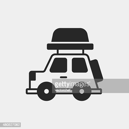 Camper van icon : Vector Art