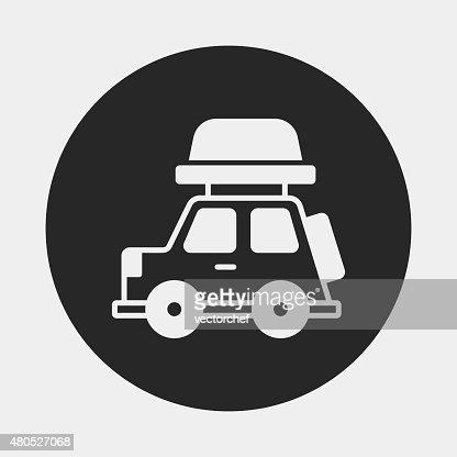 Camping-car van icône : Clipart vectoriel