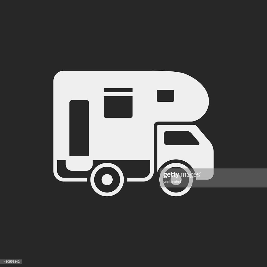 Camper van icon : Vector Art