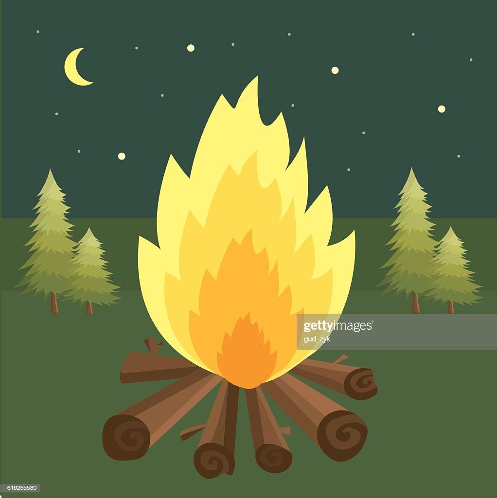 Campfire : Vector Art