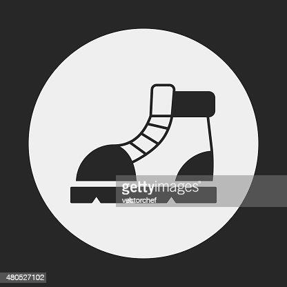 camping boot icon : Vektorgrafik