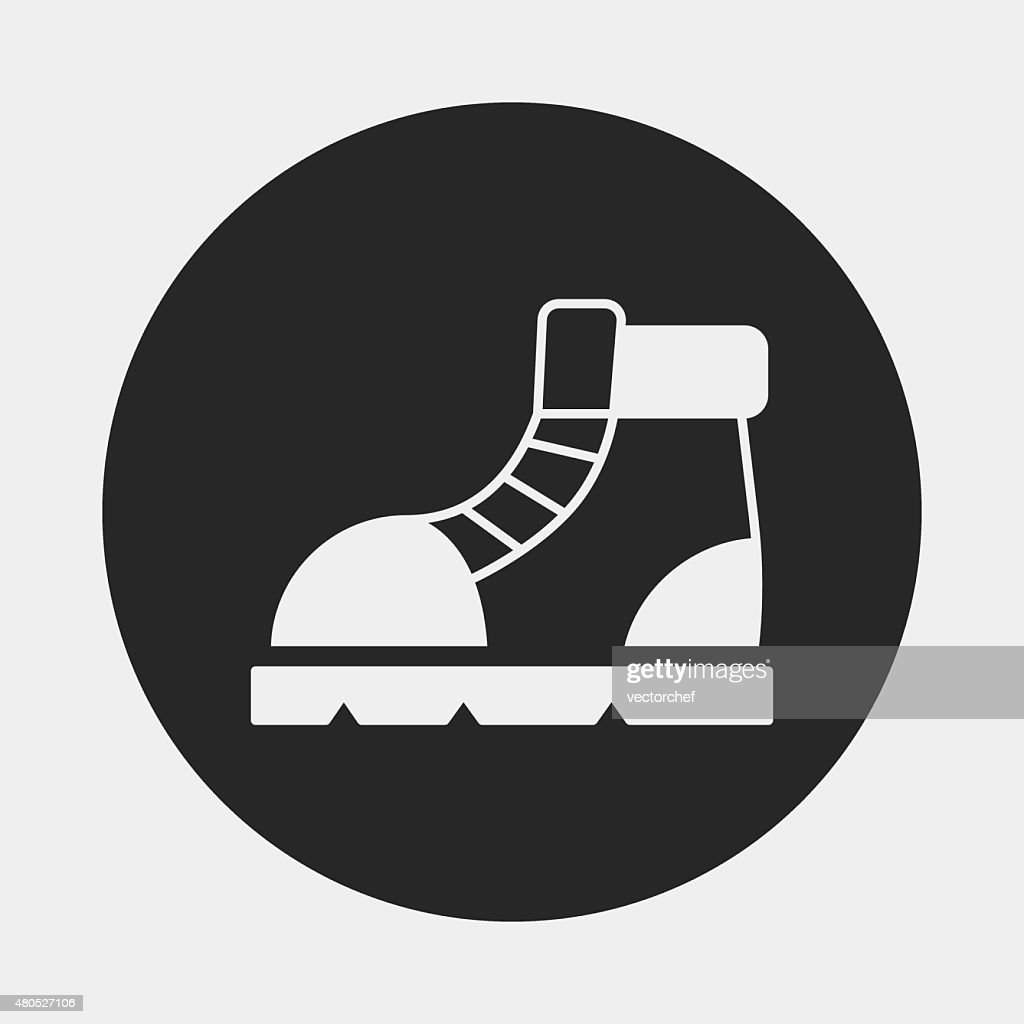 camping boot icon : Vectorkunst
