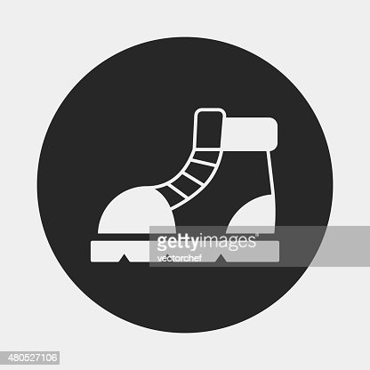 camping boot icon : Vector Art