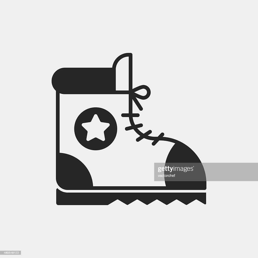 boot ícone de campismo : Arte vetorial