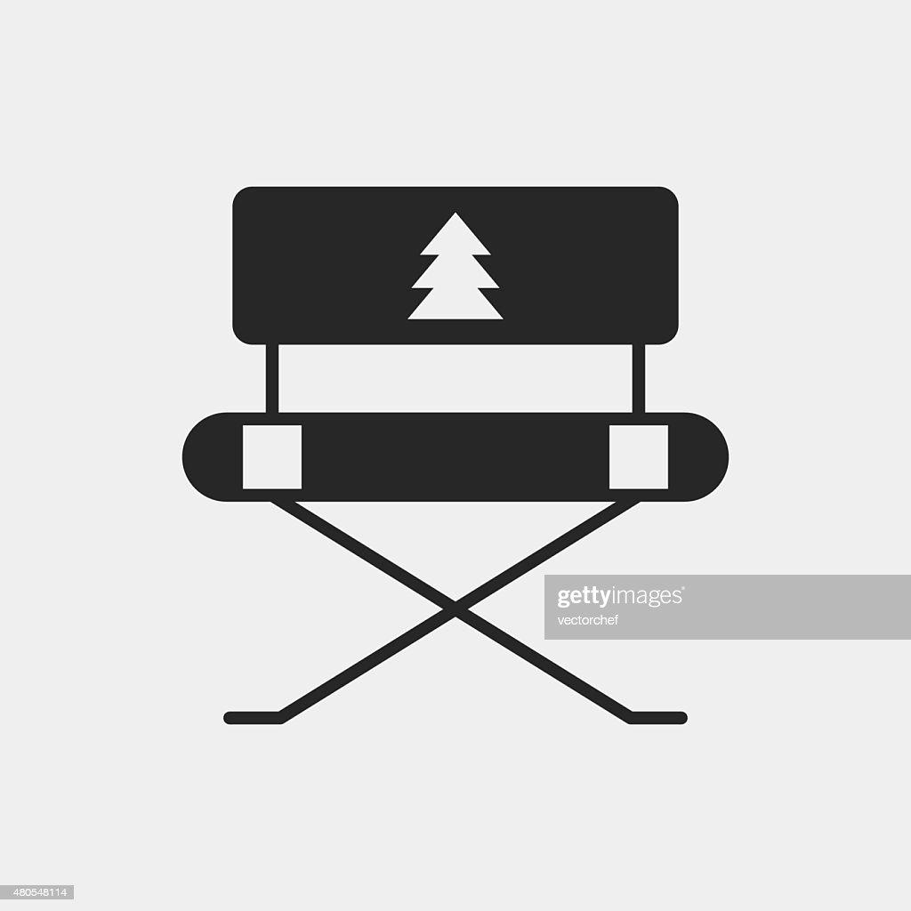 Campamento silla icono : Arte vectorial