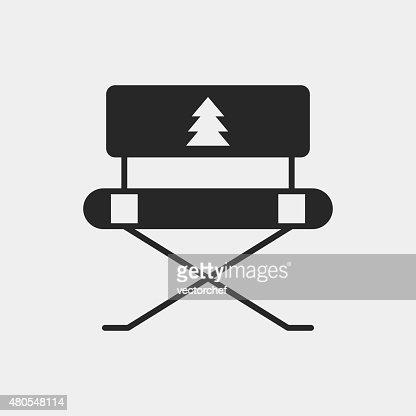 Ícone de campismo cadeira : Arte vetorial
