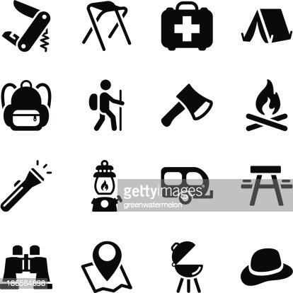 camping icons vector art thinkstock