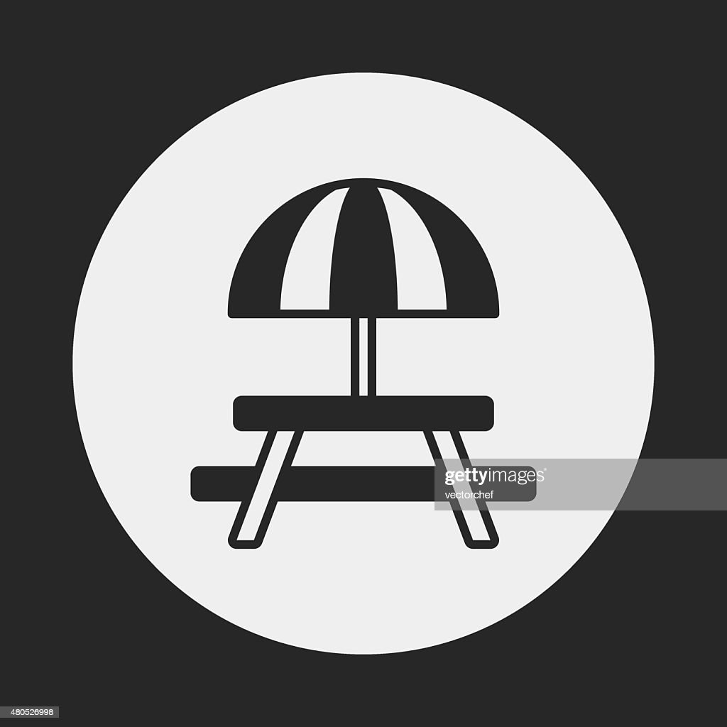 Camping Tables icon : Vectorkunst