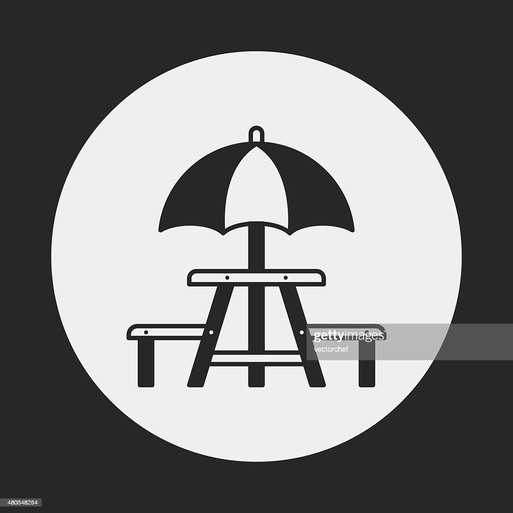 Camping Tables icon : Vector Art