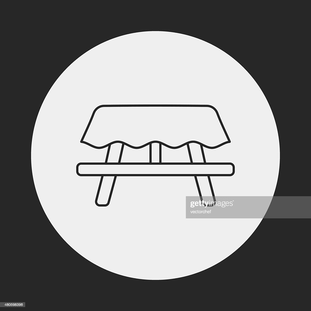 Camping Tables line icon : Vector Art