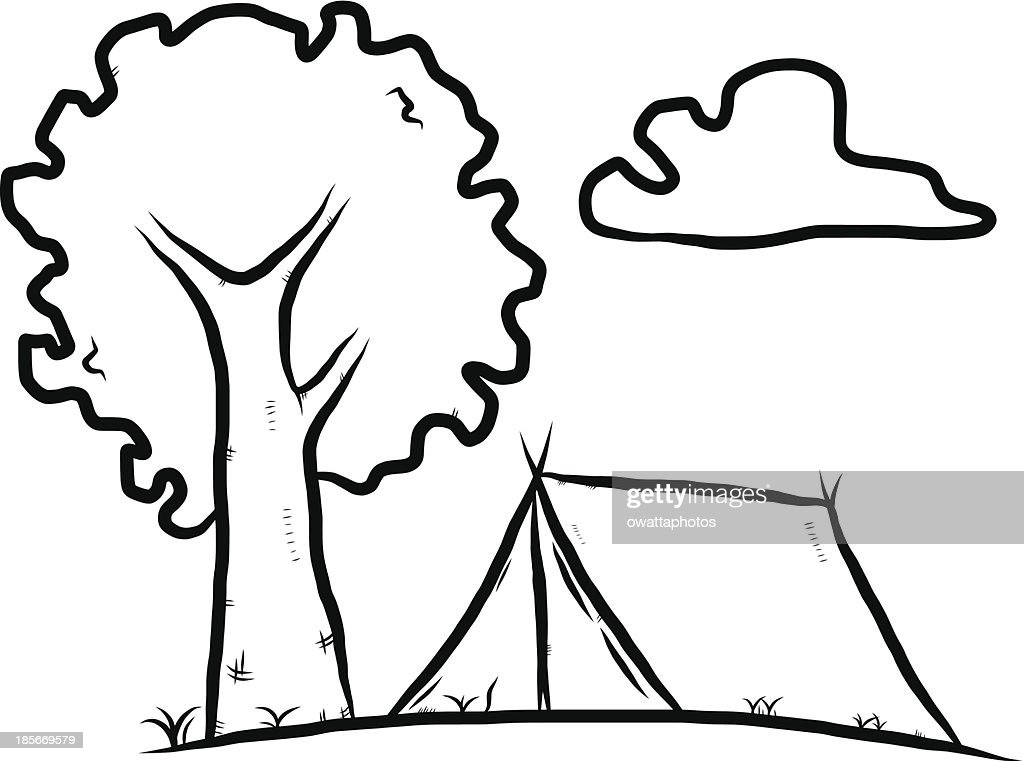 c&ing tent cartoon  Vector Art  sc 1 st  Thinkstock & Camping Tent Cartoon Vector Art | Thinkstock