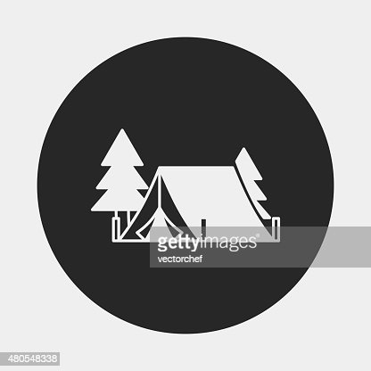 camping tent icon : Vector Art