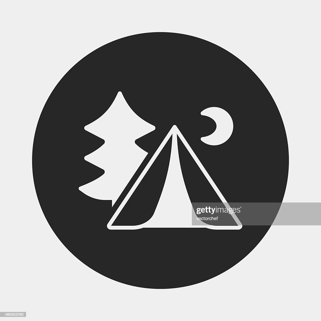 Campamento carpa icono : Arte vectorial