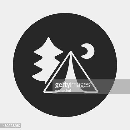 Ícone de campismo tenda : Arte vetorial