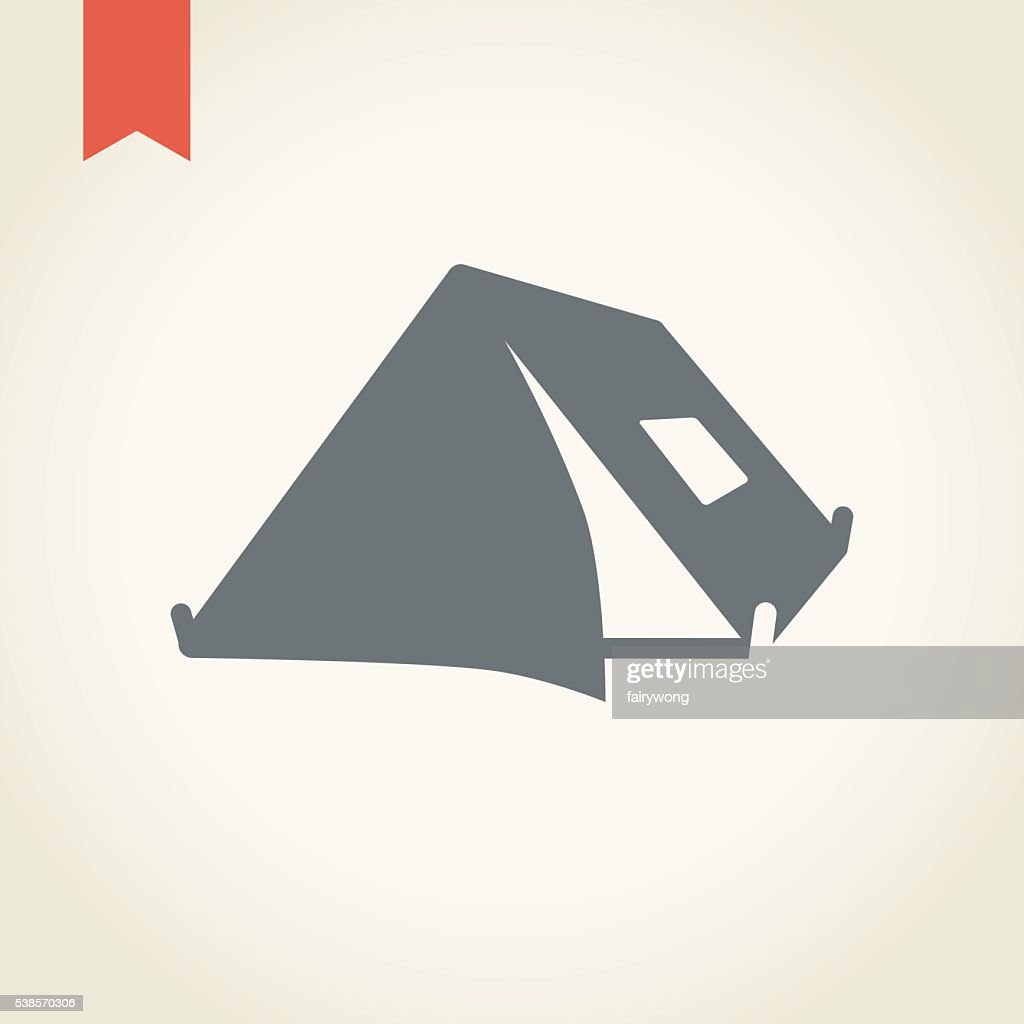 Camping Tent Icon Vector Art | Getty Images