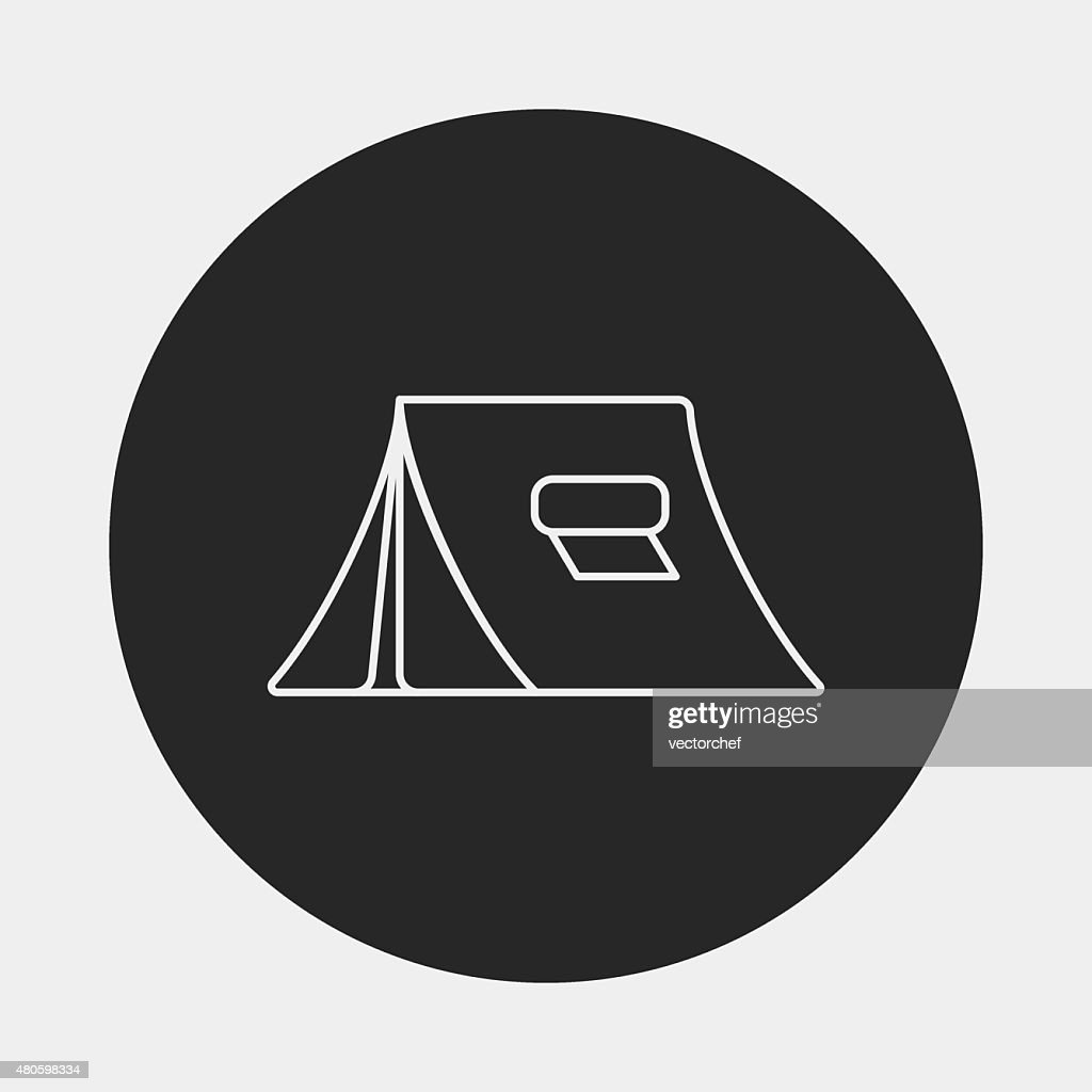 camping tent line icon : Vector Art
