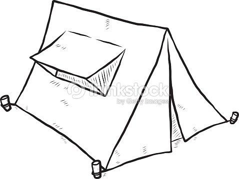 Camping Tent Vector Art