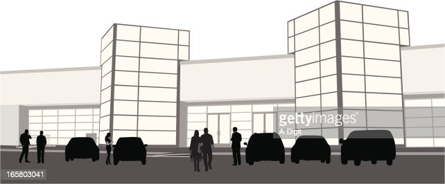 Campus Vector Silhouette Vector Art | Getty Images
