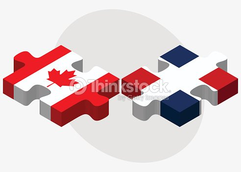 Canada And Dominican Republic Flags Vector Art