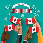 Canada Day design. EPS 10 vector.