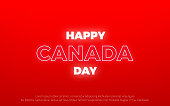 Canada Day. Neon Canada typography sign banner.