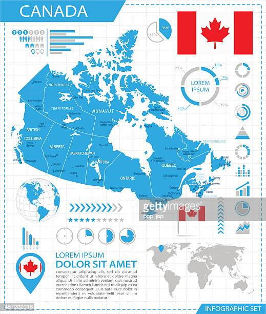 Canada - infographic map - Illustration