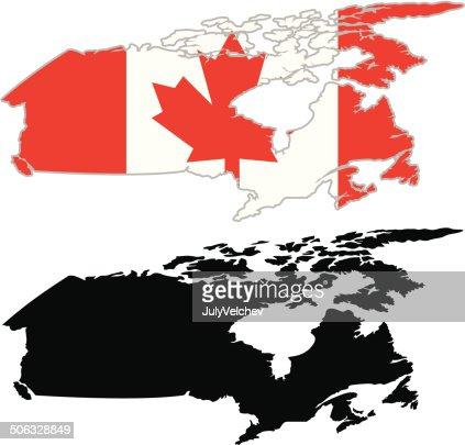 Canada Map Flag.Canada Map Flag Vector Art Thinkstock