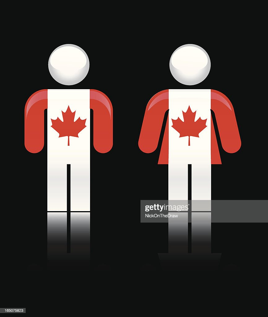 canadian flag covered people symbols vector art getty images