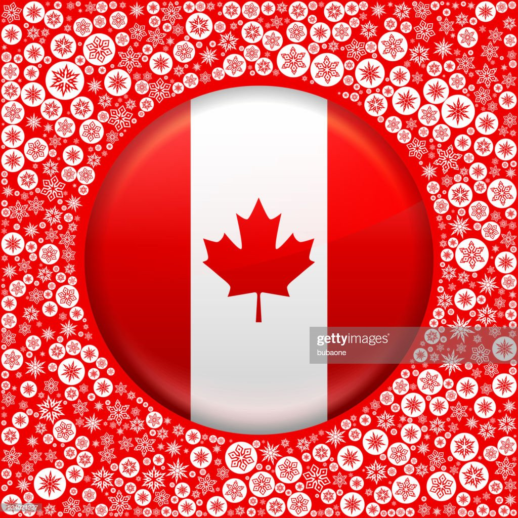 canadian flag on red snowflake background vector art getty images