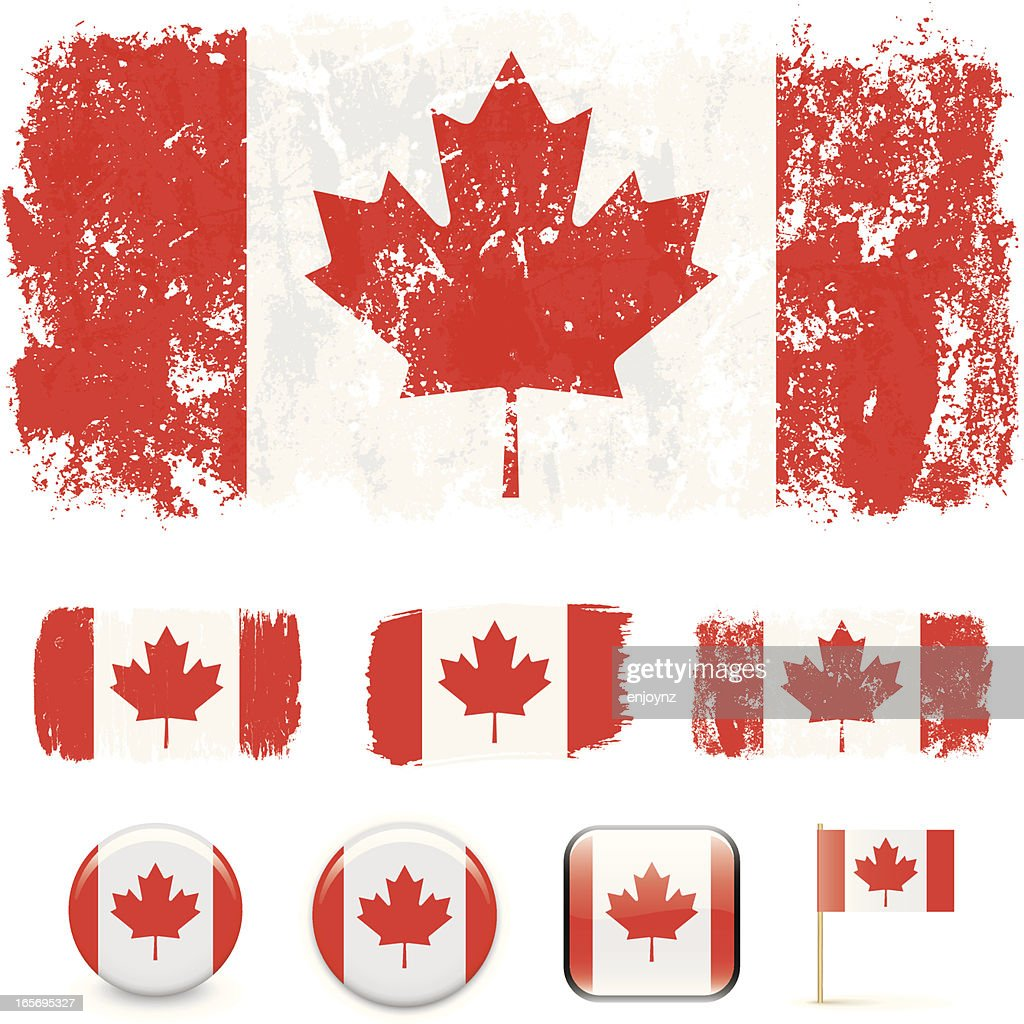 canadian flag vector art getty images
