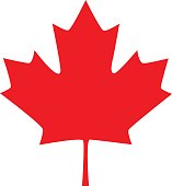 Canadian maple leaf icon. Vector element for your design