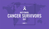 Cancer survivors day card or background. vector illustration.