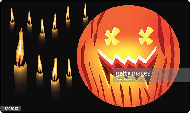 Candles & Pumpkin