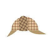 ... Berretto alla Sherlock Holmes. Cap private detective isolated. Hat  Vector illustration d7afa306b594