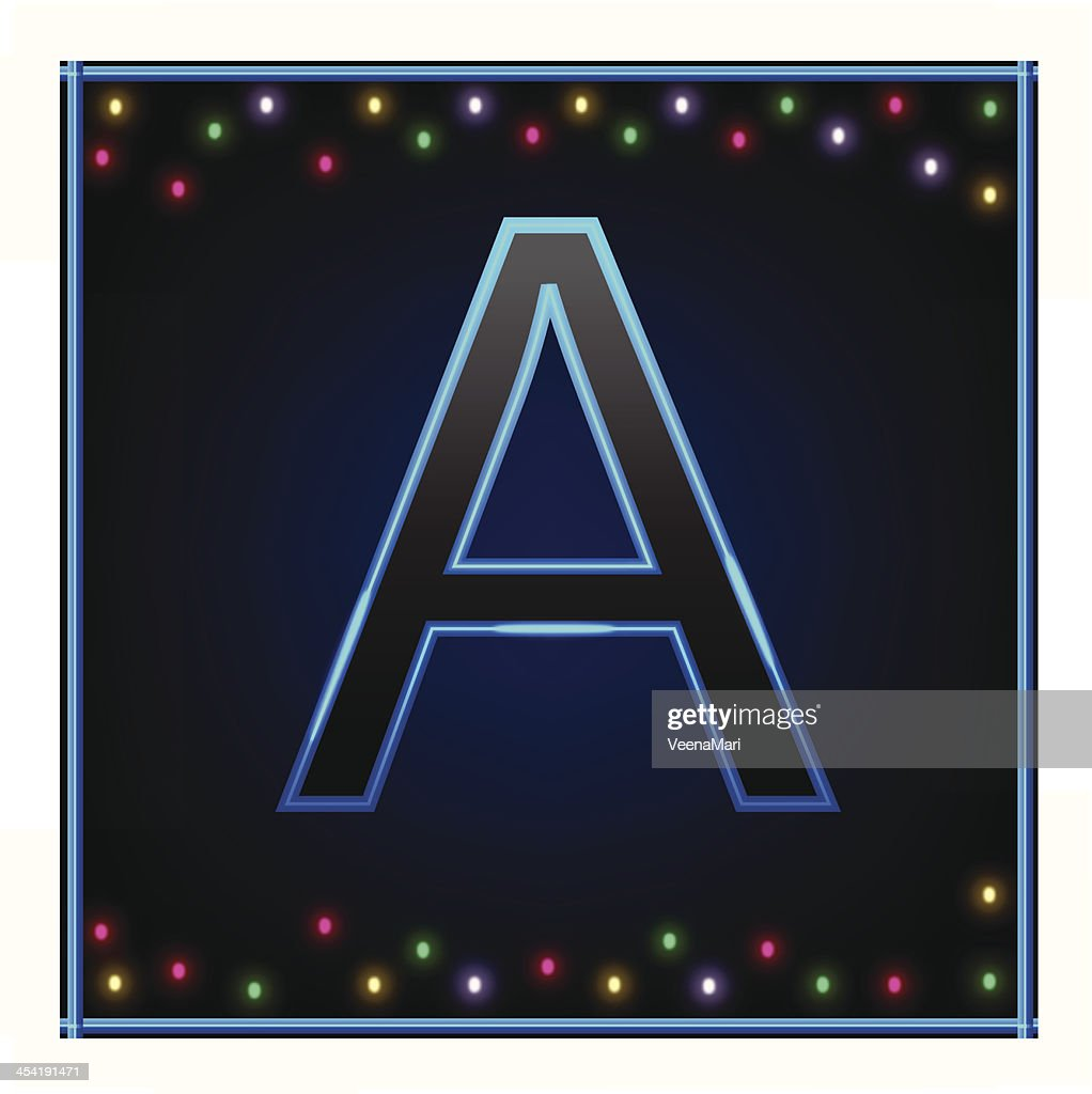 Capital Letter A : Vector Art