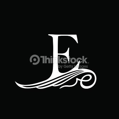 Capital Letter E For Monograms Emblems And Logos Beautiful Filigree Vector Art