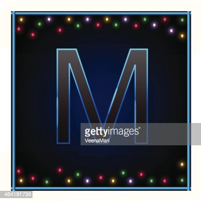 Capital Letter M : Vector Art