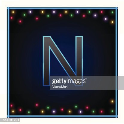 Capital letra N : Arte vectorial