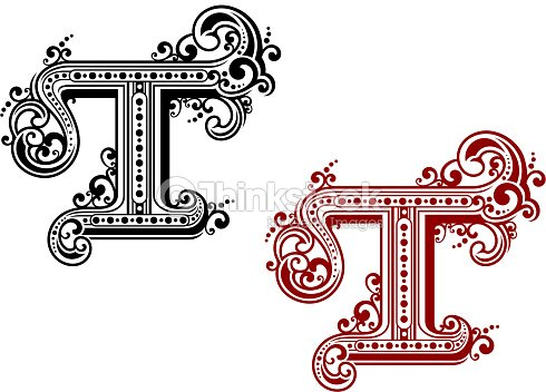 Capital Letter T In Retro Style Vector Art