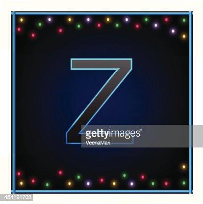 Capital Letter Z : Vector Art