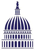 Very sharp, simple and sophisticated vector illustration of the U.S. capitol dome.