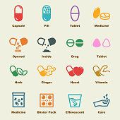 capsule elements, vector infographic icons