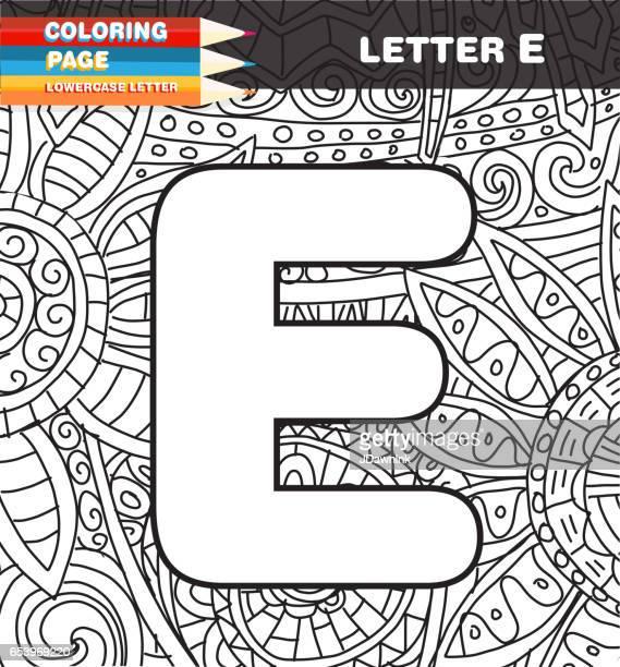 Hoofdstad brief kleurende pagina doodle