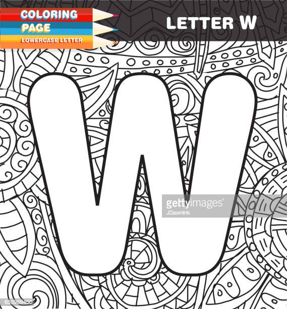 Captial letter Coloring page doodle