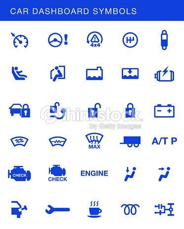 Car Dashboards Symbols Vector Set Vector Art Thinkstock