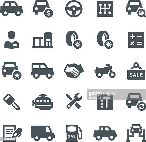 Salón de coches iconos